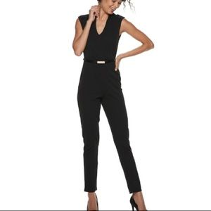 Almost famous drop shoulder black jumpsuit